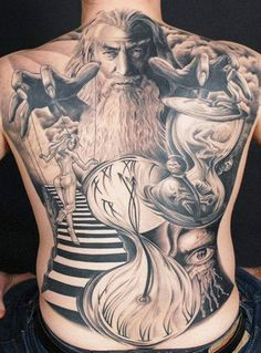 Tattoo Artist - Andy Engel | www.worldtattoogallery.com/back_tattoos