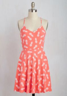 Packed With Vitamin Chic Dress. Nourish your wardrobe with the tropical vibe of this coral sundress! #orange #modcloth