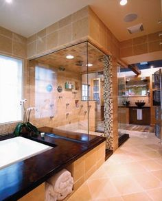 Open shower design...not sure how I feel about it