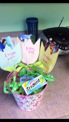 Teacher gift card boquet