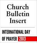 Give your church family a printed reminder of this year's International Day of Prayer, which will give them practical ideas on how they can pray together or on their own.