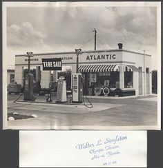 vintage roadside pictures | Vintage-Photo-Roadside-Atlantic-Gas-Station-White-Flash-Miami-Florida ...