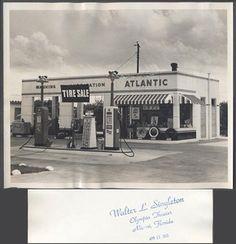 vintage roadside pictures | Vintage-Photo-Roadside-Atlantic-Gas-Station-White-Flash-Miami-Florida ...