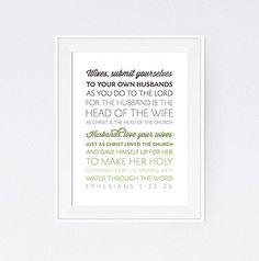 Ephesians 5:22-26 Art Print