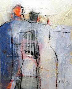 Figuren (Leinwand) | süessART - Kunst aus Leidenschaft Abstract Watercolor, Abstract Art, Illusion Kunst, Modern Art, Contemporary Art, Figurative Kunst, Art For Art Sake, Figure Painting, Indian Art
