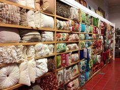 The Pier 1 pillow wall of ruffles, stitching and comfort