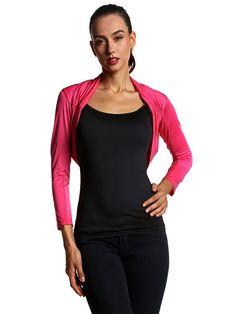 Sale 18% (21.29$) - Slim Women Patchwork Fold Three Quarter Sleeve T-shirts