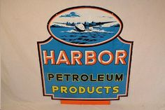 A rare 1950s Harbor Petroleum Products sign will headline an auction on February 28, 2014.  The porcelain Harbor Petroleum Products sign is among the rarest items of petroliana and could sell for as much as $60,000.