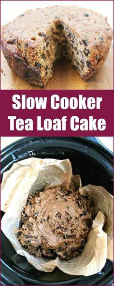 Slow cooker tea loaf cake - make this delicious traditional cinnamon fruit cake in your slow cooker! Slow cooker tea loaf cake - make this delicious traditional cinnamon fruit cake in your slow cooker! Cakes To Make, How To Make Cake, Food To Make, Slow Cooker Desserts, Slow Cooker Cake, Slow Cooking, Old Fashioned Fruit Cake Recipe, Tea Loaf, Vegetable Cake