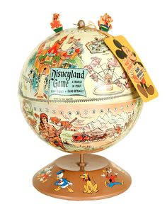 """Disneyland Globe Game made by Rand McNally prior to Disneyland, it show's Disney's early vision for the park. Featured on the TV show """"Pawn Stars"""" in the 2014 episode """"Wake Up Call"""". This one sold at auction on www.hakes.com for about $300."""