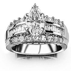 1.85 Carat t.w. GIA Certified Marquise Cut 14K White Gold Channel Set Baguette and Round Diamond Engagement Ring (D-E Color VVS1-VVS2 Clarity), http://www.amazon.com/dp/B014ZRZDNM/ref=cm_sw_r_pi_awdm_Dltgwb1NW0Y9X