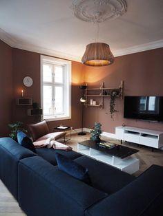 Colorful Interior Design, Modern Home Interior Design, Interior Design Living Room, Living Room Designs, Living Room Paint, Living Room Grey, Living Room Decor, Style At Home, Guest Bedroom Decor
