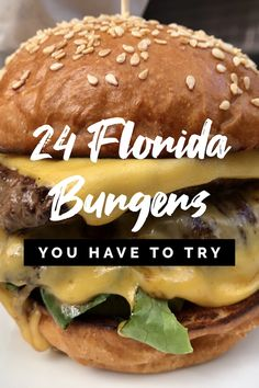 This burger list is no joke, it's been years in the making. Enjoy! #floridafoodies #floridaburgers #bestfloridaburgers #topfloridaburgers Burger Toppings, Delicious Burgers, Big Mac, Whittling, Hamburger, Florida, Beef, Ethnic Recipes, Food