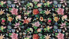 Christian Lacroix's 2016 Art de Vivre Collection, Incroyables et Merveilleuses.Wallpaper : Bagatelle, ReglisseFabric: Bagatelle, ReglisseStockists