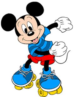 Mickey Mouse on roller skates he's having a good time skating Disney Mickey Mouse, Arte Do Mickey Mouse, Mickey Mouse Imagenes, Mickey Mouse E Amigos, Retro Disney, Mickey Mouse And Friends, Cute Disney, Disney Art, Wallpaper Do Mickey Mouse