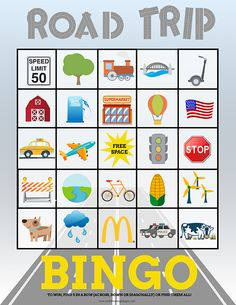 Travel Bingo Cards for Kids Perfect for Road Trips Headed on a road trip with the kids? My family loves this travel game activity when we are on the road! I just print out these Travel Bingo Cards for Kids and then we use them to play Bingo or find every Road Trip Bingo, Road Trip Games, Road Trip With Kids, Family Road Trips, Travel With Kids, Road Trip Activities, Activities For Kids, Car Bingo, Travel Bingo