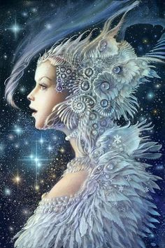 This reminded me of the Goddess Freya, I'm not sure if it is, but it made me think of her for some unbeknownst reason xo