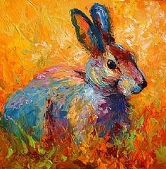 Forest Rabbit by Marion Rose Oil