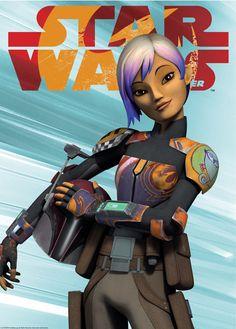 Sabine Wren - Star Wars Poster - Ideas of Star Wars Poster - - Sabine Wren on alternate cover for Star Wars Insider Sw Rebels, Star Wars Rebels, Star Wars Clone Wars, Star Wars Outfits, Star Wars Images, Star Wars Fan Art, Star Wars Gifts, Star Wars Poster, Clone Trooper