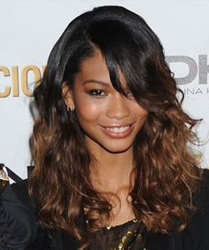 Fall Hair Color Trends - Chanel Iman with ombre ends...