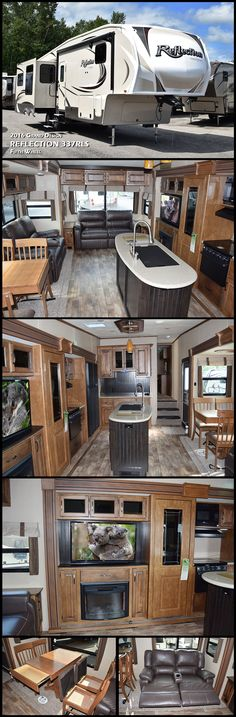 You will enjoy all the comforts of home in a convenient rear living layout in this 2016 REFLECTION 337RLS Fifth Wheel by Grand Design!