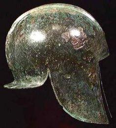 Bronze Hammered Macedonian Helmet 6th Century BC; Busacca Gallery, San Francisco, CA