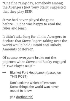 DON'T play RISK with Steve Rogers!