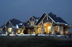 Too big, but love this style Craftsman Style House Plans - 3651 Square Foot Home , 2 Story, 5 Bedroom and 4 Bath, 4 Garage Stalls by Monster House Plans - Plan Family House Plans, House Floor Plans, 5 Bedroom House Plans, Unique House Plans, Large House Plans, House Plans 2 Story, Large Floor Plans, Casa Top, Monster House Plans