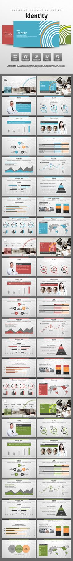 Identity PowerPoint Template #design #slides Download: http://graphicriver.net/item/identity/13093070?ref=ksioks