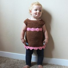 Toddler Flower Tunic - Free Crochet Pattern