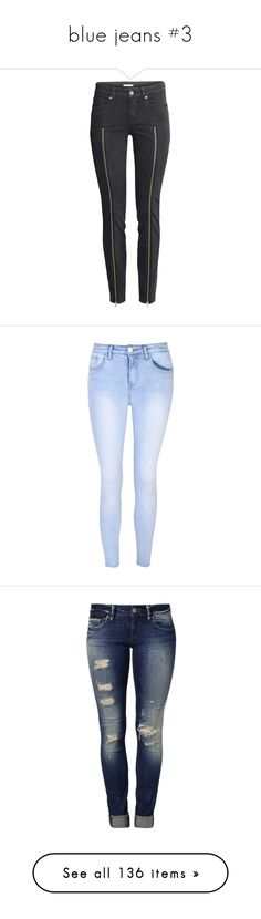 """""""blue jeans #3"""" by asiebenthaler ❤ liked on Polyvore featuring jeans, pants, h&m, jeans / pants / leggings, black, zipper fly jeans, zip jeans, h&m jeans, slim leg jeans and 5 pocket jeans"""