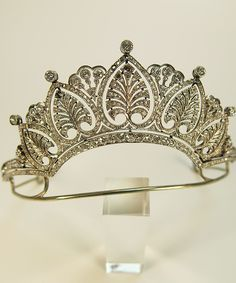 Diamond and platinum belle époque tiara, circa 1920.