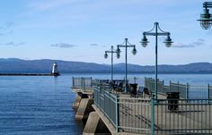 Fishing pier- Lake Champlain - Burlington, Vermont