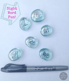 Sight Word Fun & Letter Fun with Gems from The Educators' Spin On It using Infinity Markers