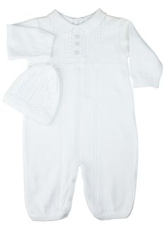 Sweater Knit Romper with Hat | Feltman Brothers