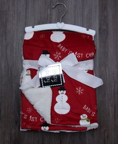 Thro Baby Blanket by Marlo Lorenz ~ Baby's 1st Christmas ~ Snowman ~ Snowflake ~ | Baby, Nursery Bedding, Blankets & Throws | eBay!