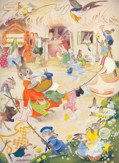 Illustration by Hilda Boswell, from Enid Blyton's Buttercup Story Book.