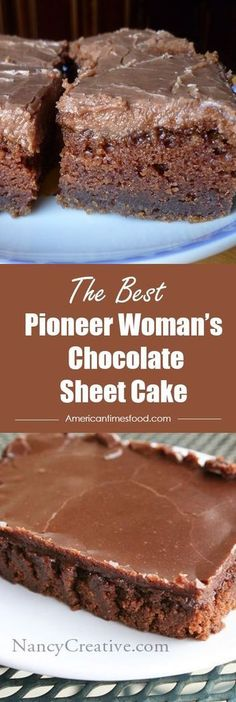 Chocolate Sheet Cake Pioneer Woman's Chocolate Sheet Cake – Delicious recipes to cook with family and friends.Pioneer Woman's Chocolate Sheet Cake – Delicious recipes to cook with family and friends. Food Cakes, Cupcake Cakes, Baking Cakes, Bread Baking, Easy Desserts, Delicious Desserts, Dessert Recipes, Dinner Recipes, Sheet Cake Recipes