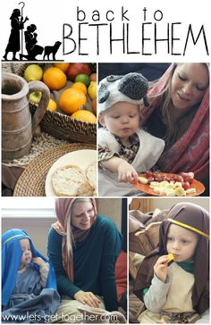 Idea for a family night that focuses on the first Christmas. #fhe