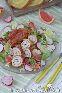 Involtini di pollo e pancetta al pompelmo - In cucina con Zia Ralù Zia, Pancetta, Vegetables, Carne, Foods, Board, Recipes, Food Food, Food Items