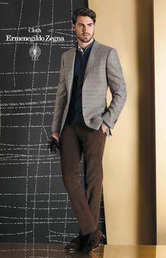 Colectia Zenonni din tesaturi Cloth Ermenegildo Zegna Sacou: Trofeo Cashmere 95% Wool – 5% Cashmere 290 gr. Pantalon Cotton 100% 350gr.