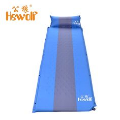 Hewolf Single Outdoor Memory Sponge Sleeping Pad Bag Camping Mat With Pillow Portable Beach Cushion Automatic Inflatable Bed