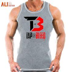 57c9b2a388ea4 Alisister Gyms Tank Tops Bodybuilding Men Cotton Vest O-Neck Golds Gyms  Tank Top Men
