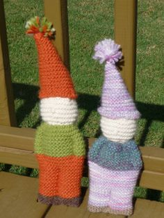 Knitted Simple Waldorf Gnome Doll - Free Pattern - PDF Download