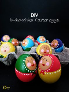 Babushka Easter eggs. The tutorial is for boiled eggs. I suggest that you blow out the eggs before you paint them. They are too pretty to be just temporary, don't you think? I'd hang them on branches with fresh green... And bake a Challa with the egg liquid.