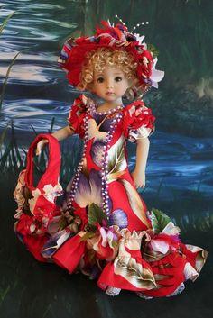 "13"" Effner Little Darling ""HAWAIIAN PARADISE"" Hawaiian Dress Ensemble #DiannaEffner"