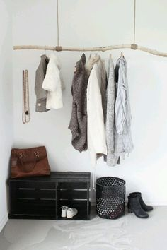 Cool idea! Driftwood coat rack