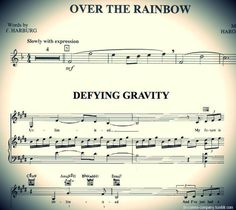 "Prepare to have your mind blown, if you didn't already know this. The first 8 notes of ""Somewhere Over the Rainbow"" are what make up the main motif in Wicked."