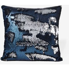 Aviva Stanoff Solana Mermaid Sequin Pillow ($240) ❤ liked on Polyvore featuring home, home decor and throw pillows