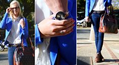 Bold and Blue Wood Watch, Ali, Street Style, Fashion, Wooden Clock, Moda, Wooden Watch, Ant, Street Styles